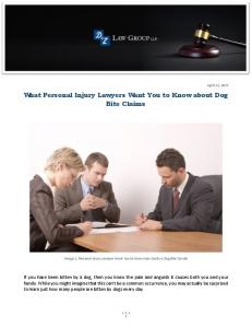 What Personal Injury Lawyers Want You to Know about Dog Bite ...