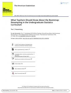 What Teachers Should Know About the Bootstrap: Resampling in the ...