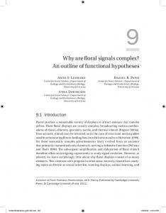 Why are floral signals complex? An outline of functional hypotheses