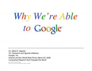 Why we're able to Google - Semantic Scholar