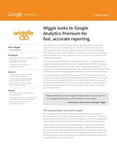 Wiggle looks to Google Analytics Premium for fast, accurate reporting