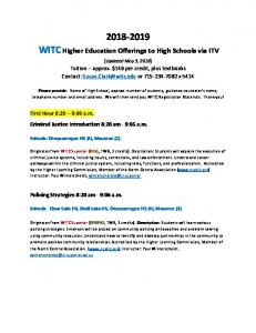 WITC Higher Ed Offerings 2018-2019 Updated May 3 2018.pdf ...