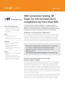 With conversion testing, BT Super for Life increases form ...