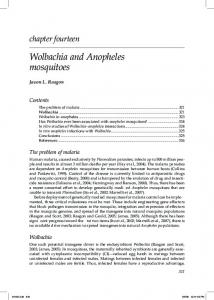 Wolbachia and Anopheles Mosquitoes
