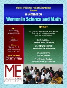 Women in Science and Math