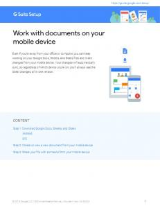 Work with documents on your mobile device - G Suite