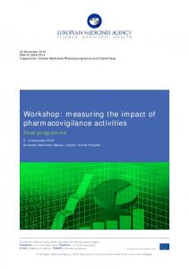 Workshop on measuring the impact of pharmacovigilance activities