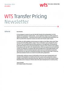 WTS Transfer Pricing Newsletter - WTS Global