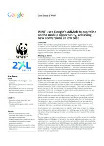 WWF uses Google's AdMob to capitalise on the ...  services