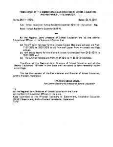 www.apteachers.in PROCEEDINGS OF THE COMMISSIONER AND ...