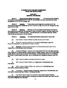 Wyoming State Building Commission Rules.pdf