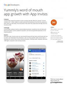 Yummly's word of mouth app growth with App ...  Developers