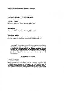 Z LOGIC AND ITS CONSEQUENCES Martin C ... - Semantic Scholar