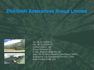 ZHAOHAI Enterprises Group Limited - MillerElec.com Messages