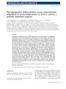 Zostera marina - Wiley Online Library